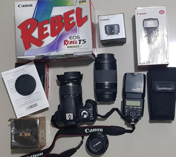 Kit Camera Fotográfica Canon Com Acessórios