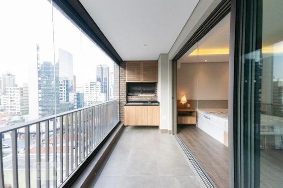 Studio No 9º Andar Mobiliado Com 1 Dormitório E 1 Garagem - Id: 892963626 - 263626
