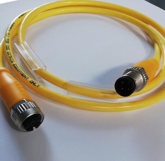 Conector macho m12 pin 4 código D-Ethernet para tuberías t4111511041-000 Steck
