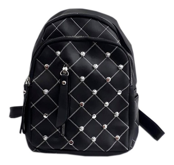 Mochila Apliques Tachas Espalda Mujer Bag Stage Su2074 Maple