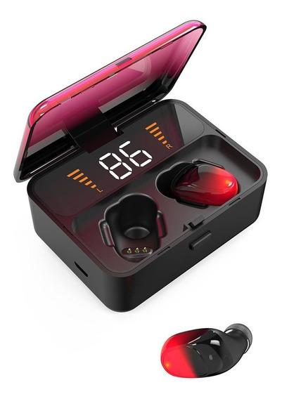 Es01 Bluetooth Headset 5.0 Binaural Com Display Digital Sem
