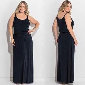 Vestido Plus Size Moda Evangélica Longo Lindo Em Promoção