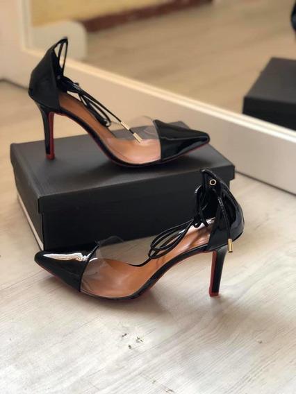Sandália Scarpin Feminina Salto Alto Fino Luxo
