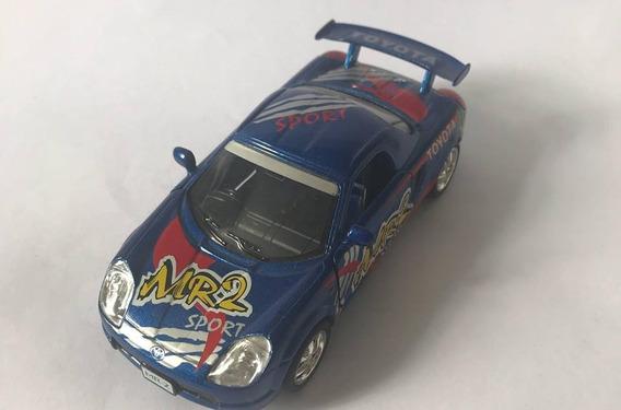 Toyota Mr2 - Escala 1/32 - Azul- Miniatura Colecionável