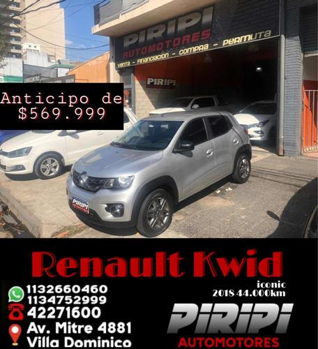 Imagen 1 de 11 de Renault Kwid 2018 1.0 Sce 66cv Iconic, $569.999 Y Cuotas
