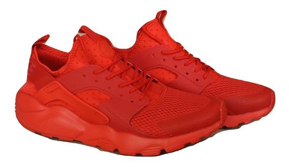 Kp3 Zapatos Caballeros Nike Air Huarache Ultra Rojo Completo