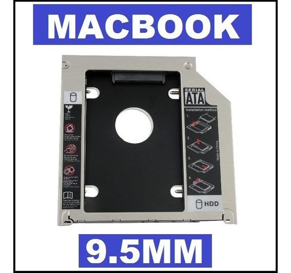 Adaptador Caddy Dvd 9.5mm P Hd Ssd Macbook Mac Pro Air Drive