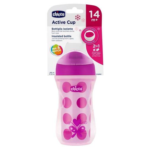 Imagen 1 de 2 de Chicco Active Cup Rosa/morado 14m+ 266 Ml 1 Pieza Colores Al