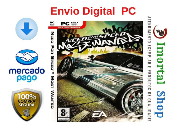 Nfs Most Wanted Envio Digital Imediato Pc