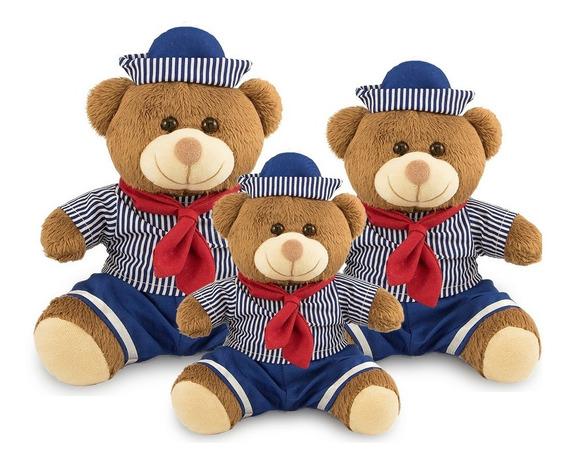 Urso Pelúcia Marinheiro Para Nichos 20cm, 25cm E 30cm