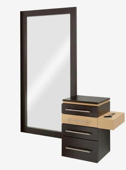 Estación Muebles Para Estética Tocador 2 Piezas Mod Layers