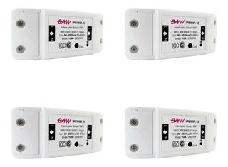 Pack X 4un Interruptor Inteligente Wifi Smart Life Baw Luces