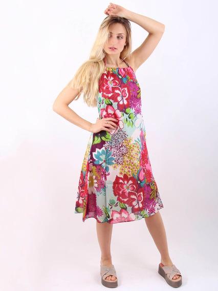 Vestido Informal Importado Largo Algodón 100% Solero 2247