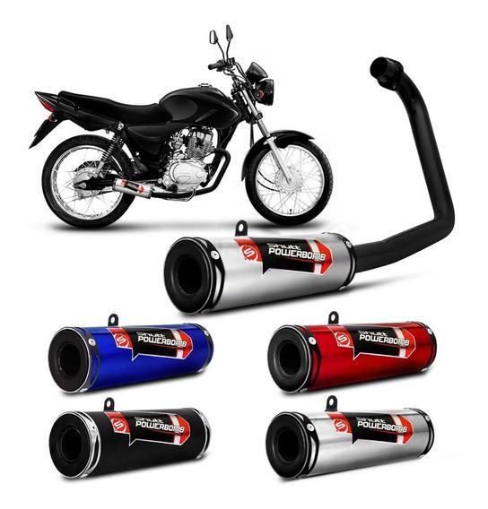 Escapamento Esportivo Moto Cg 125 Titan Es 2000 A 2004 Shutt