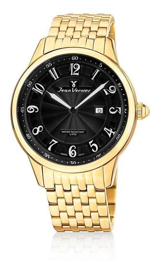 Relógio Pulso Jean Vernier Com Calendário Masculino Jv01130