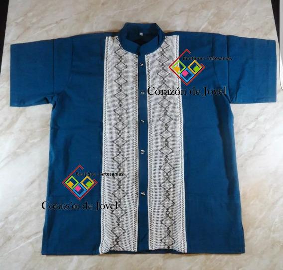 12 Camisas/guayaberas Artesanales De Niño/ Mexicana- Chiapas