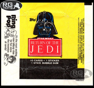 Star Wars Darth Vader Return Of The Jedi Wrappers Topps 1983