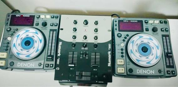 Cdj Dns 1000 Denon + Mixer Numark Dm950