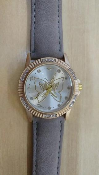 Relógio Feminino Borboleta Com Strass