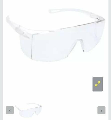 Óculos De Proteção Epi Segurança Incolor 10 Unidades
