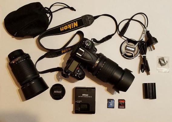 Nikon D7000 Impecable C/18-105 + 55-200 (3105 Disp.) C/bolso