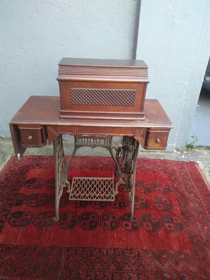 Máquina De Costura Antiga Singer Fixa E Portátil - Belíssima