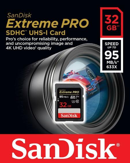 Cartão De 32gb 32g Extreme Pro Sd Sdhc Sdxc 95mb Nikon/canon