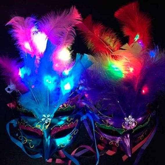 1 Antifaz Led Mascara Veneciana Careta Cotillon Luminoso