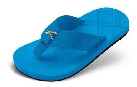 Sandália Kenner Infantil Joy Nk5 Gold Chrome Azul Original