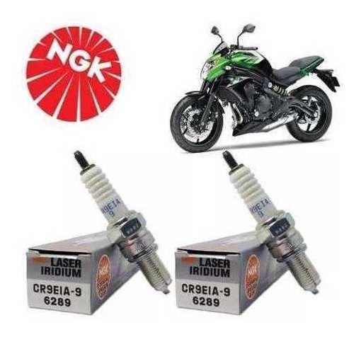 Jogo 2 Velas Ngk Laser Iridium Cr9eia-9 Kawasaki Er6n Versys