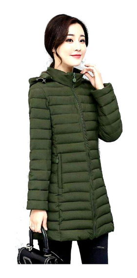 Parka Camperon Tapado Inflable Mujer Con Capucha - Jeans710
