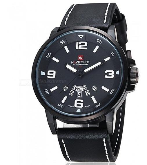 Naviforce 9028 Relógio Masculino Quartzo Preto - Liquidação