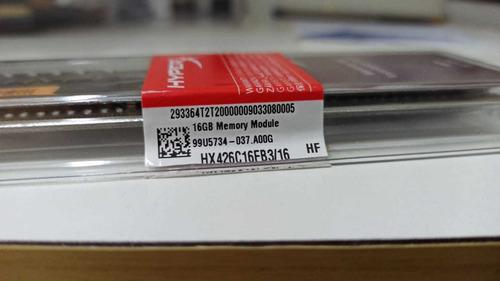 Imagem 1 de 3 de  Memória Ddr4 16gb Hyperx Hx426c16fb3/16