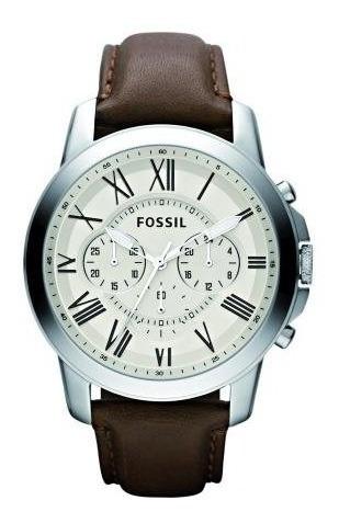 Relógio Fossil Grant Masculino Pulseira De Courofs4735/0bn