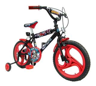 Bicicleta Rodado 16 Spiderman Para Nene Ruedas Eva