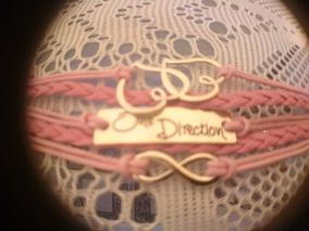 Pulseira De Couro One Direction Infinito & Coração 1d-rosa
