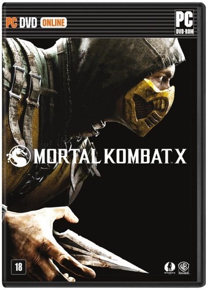 Jogo Pc Dvd - Mortal Kombat X - Lacrado - Game Pc Dvd