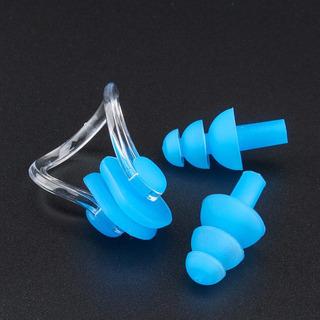 Kit Clipe Nasal E Tampão De Ouvido - Protetor Natação + Case