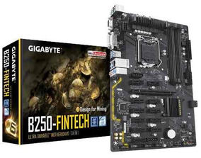 Placa Mãe Gigabyte B250-fintech Lga 1151 Mineração 12x Pcie