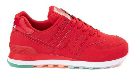 tenis new balance rojos mujer