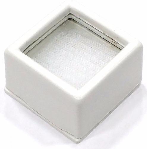Caixa Plástica 3cm P/ Pedras Lapidadas Jóias Com Visor Vid