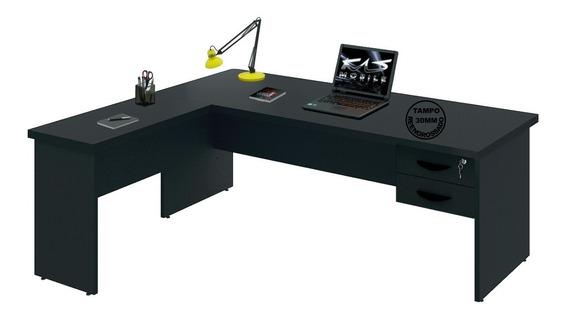 Mesa Para Escritório Em L Tpo30mm 1.50x1.60 | Várias Cores