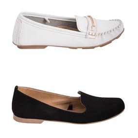 Kit De Zapato Confort Dama-mujer Shosh Negro-blanco Nq24