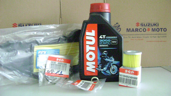 Kit Oleo Motul 3000,filtros Oleo, Ar E Oring Suzuki Burgman