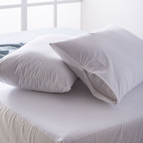 Protector Almohada Terry Impermeable (50x75) Blanco