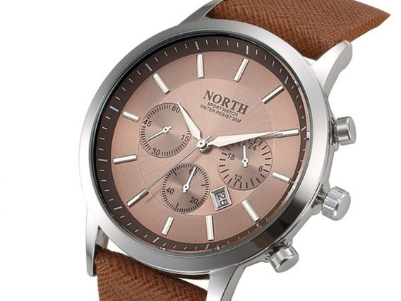 Relógio Masculino De Alto Padrão, North Waterproof, Luminous