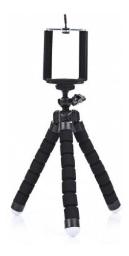 Suporte Tripe Pau Selfie Para Cameras E Celulares Cor Preta