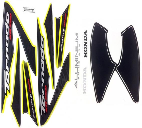 Faixas / Kit Adesivos Honda Xr250 Tornado 2008 Amarela