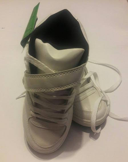 Zapatillas Glock Gender 36 Blanco Con Velcro Y Cordon