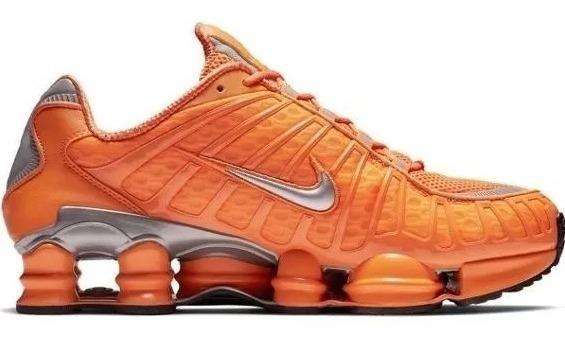 Novo Tenis Masculino Nike Shox 12 Molas Promoção Laranja Top